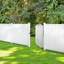Veranda Bridgeport 4 Ft W X 6 Ft H White Vinyl Privacy Fence Gate 359459 The Home Depot