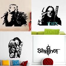 17 Designs Slipknot Wall Sticker Corey Taylor Poster Mick Thompson Paul Gray Shawn Crahan Vinyl Decal James Root Chris Fehn Wall Sticker Vinyl Decalart Decor Aliexpress