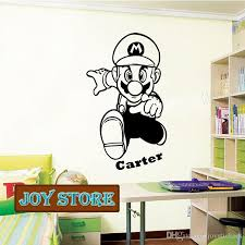 Super Mario Wall Decal Art Sticker Children Nursery Bedroom Personalized With A Name Of Your Choice 58 98cm Design Wall Decals Design Wall Stickers From Joystickers 18 09 Dhgate Com