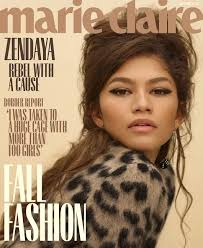 The beautiful Zendaya Coleman for Marie Claire September 2018 - Ivy Marshall  | Zendaya photoshoot, Zendaya, Marie claire magazine