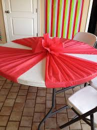 plastic tablecloths on round tables