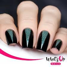 nails triangle tape nail stencils