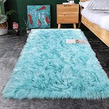 Mengh 46 X75 Rugs Super Soft Fluffy Kids Room Carpet Rubber Backing For Home Decorate Blue Educational Toys Planet