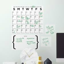 Ebern Designs 4 Piece Dry Erase Calendar Peel And Stick Giant Wall Decal Set Wayfair