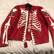 this is the x vanson red bone jacket