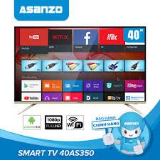 Smart Tivi 40 inch Full HD Asanzo 40AS350 Miễn Phí 12 Tháng ClipTV ...