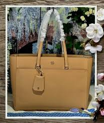 tory burch robinson leather tote in