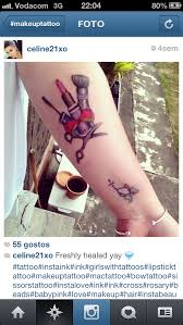 dv make upmakeup inspired tattoos dv
