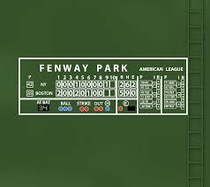 Boston Red Sox Fenway Green Monster Scoreboard Wall Decal Etsy In 2020 Boston Red Sox Fenway Red Sox Room Wall Decals