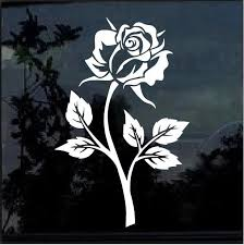 Rose Flower Window Decal Sticker Window Decals Cute Car Decals Flower Window