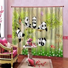 2020 Animal Park Panda Curtain For Kids Room Living Room Bedroom Blackout Window Drapes Home Decor Customizable Any Size From A1048874333 52 32 Dhgate Com