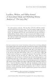 """Luckless, Witless, and Filthy-Footed: A Sociocultural Study and Publishing  History Analysis of """"The Lazy Boy"""""""