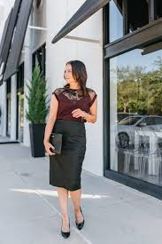 chic office holiday party outfit lady