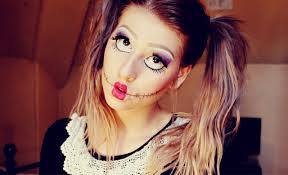 how to do scary rag doll makeup
