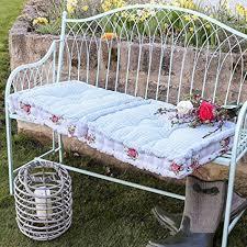 vintage style fl garden bench long