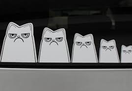 Make And Send You A Grumpy Cat Family Decal For Your Car Window By Mellowmandy