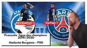 Pronostic Atalanta Bergame - PSG ligue des champions 2019/2020 ...