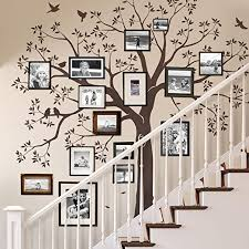 Amazon Com Simple Shapes Staircase Family Tree Wall Decal Tree Wall Decal Chestnut Brown Small Size 92w X 88h Inch Home Kitchen