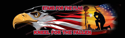 Stand For The Flag Kneel For The Fallen Rear Window Decal Let S Print Big