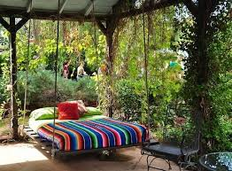 garden swing bed images on favim com