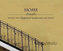 home where happiest memories are made quote wall sticker