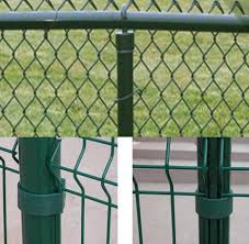 steel fence posts green pvc coated or