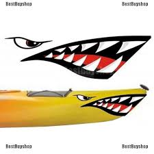 2x Vinyl Shark Mouth Teeth Decal Sticker Kayak Canoe Boat Car Funny Graphics Archives Midweek Com