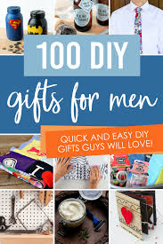 creative diy gift ideas for men from