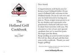 the holland grill cookbook manualzz
