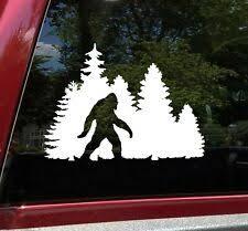 Bigfoot In Treeline Vinyl Decal Sasquatch Camping Hiking Die Cut Sticker Ebay