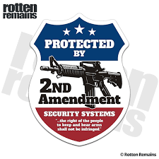 Security Badge Ar 15 Rifle Firearm Home Security Warning Sticker Decal Rotten Remains High Quality Stickers Decals