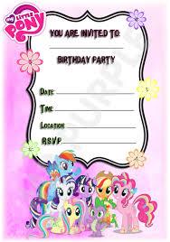Invitaciones Para Fiesta De Cumpleanos My Little Pony Hermoso