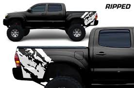 Product Toyota Tacoma 2005 2018 Custom Quarter Side Decal Truck Wrap Ripped