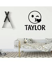 Check Out These Bargains On Emoji Wall Decal Wink Face Personalized Vinyl Art Decorations For Teens Boys Or Girl S Bedroom Playroom Or Home Decor