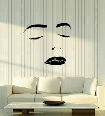 Vinyl Wall Decal Beautiful Girl Face Makeup Beauty Salon Stickers 3691ig Vinyl Wall Decals Wall Decals Beautiful Girl Face