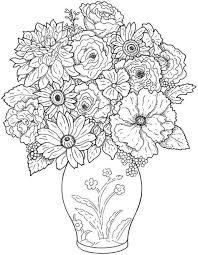 Vaas Met Bloemen Kleurplaten Kleurboek Mandala Kleurplaten