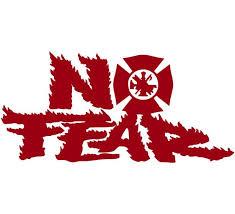 No Fear Maltese Fire Fighter Window Decal