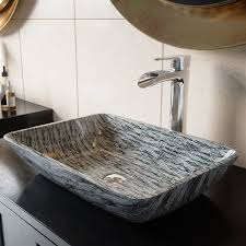 vigo titanium vessel bathroom sink with