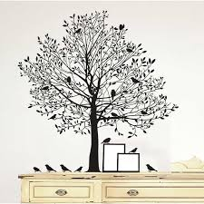 Black Tree With Birds Wall Decal Kirklands