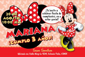 Invitacion Digital Personalizada Minnie Mouse Roja 125 00 En