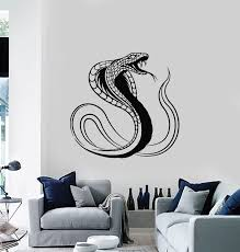 Vinyl Wall Decal Cobra Snake Reptile Venomous Predator Tribal Stickers Wallstickers4you