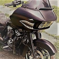 Fairing Car Decals Set Of 2 Left Right Shark Teeth War Bomber Stickers Badboy Nl
