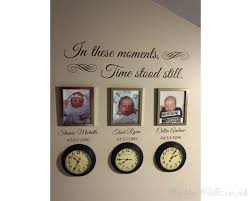 In These Moments Time Stood Still Wall Quote Customized Name Wall Decal