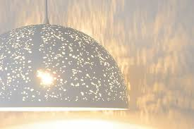 dome pendant light white dots 40cm