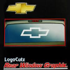 Big Chevy Bowtie Vinyl Decal Emblem Graphic Sticker For Car Truck Rear Window Ebay