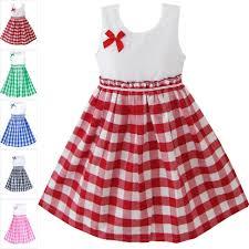 sunny fashion d dress red tartan