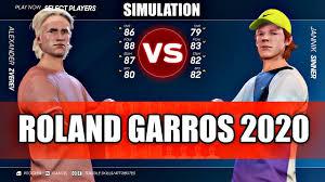 Alexander Zverev vs Jannik Sinner ROLAND GARROS 2020 SIMULATION - YouTube