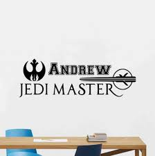 Personalized Star Wars Wall Decal Jedi Master Sign Quote Etsy