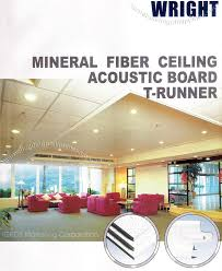 mineral fiber ceiling acoustic board