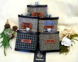 harris tweed hip flasks